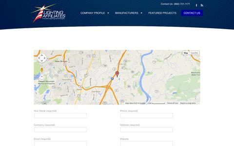 Screenshot of Contact Page lightingaffiliates.com - CONTACT US | Lighting AffiliatesLighting Affiliates - captured Oct. 2, 2014