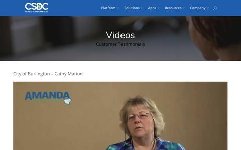 Screenshot of Testimonials Page csdcsystems.com - Testimonials | CSDC Inc - captured July 7, 2017