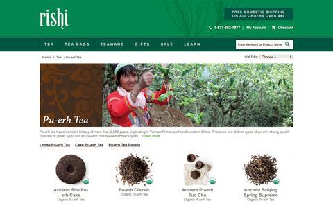Buy Organic Pu-erh Tea |  Rishi Tea