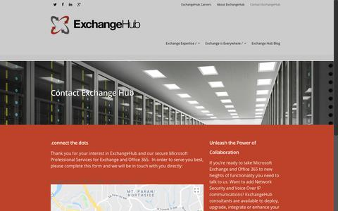 Screenshot of Contact Page exchangehub.com - Contact ExchangeHub    ExchangeHub - captured July 23, 2018