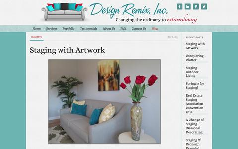 Screenshot of Blog designremixinc.com - Blog - captured Sept. 30, 2014