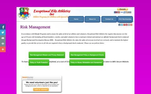 Screenshot of Terms Page exceptionalkidsathletics.org - Legal - captured Oct. 3, 2014