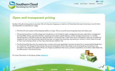 Screenshot of Pricing Page southerncloud.net - Pricing - Southern Cloud - captured June 15, 2017
