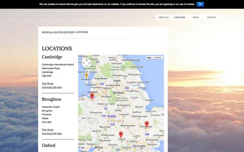 Screenshot of Locations Page marshallas.com - Locations - Marshall Aviation Services - captured Oct. 3, 2014