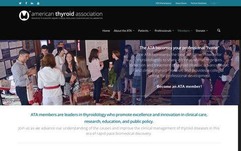 Screenshot of Signup Page thyroid.org - Become an ATA Member - captured Jan. 17, 2016