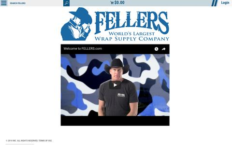 Screenshot of Home Page fellers.com - The World's Largest Wholesale Vinyl Wrap Supply Company | FELLERS - captured Aug. 8, 2018