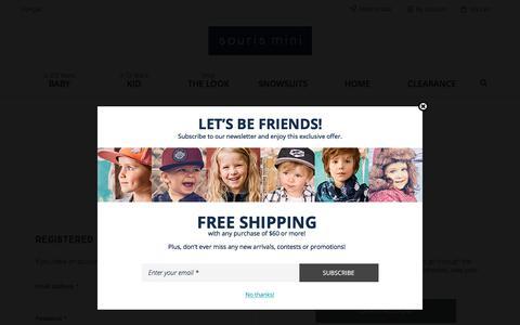 Screenshot of Login Page sourismini.com - Customer Login - captured Sept. 21, 2018