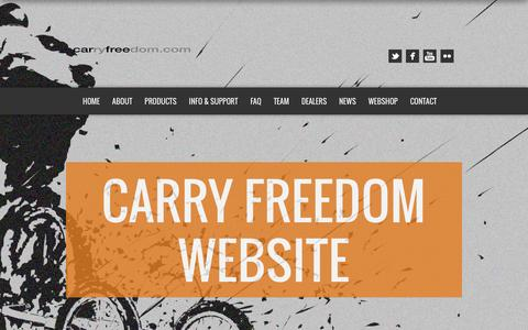 Screenshot of Home Page carryfreedom.com - Carry Freedom Website   a bike trailer revolution - captured July 11, 2016