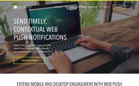 Web Push Notifications for Chrome, Firefox, Safari | Appboy
