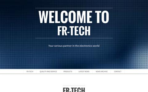 Screenshot of Home Page Contact Page Products Page fr-tech.com - Welcome to - FR-Tech - captured Oct. 5, 2014