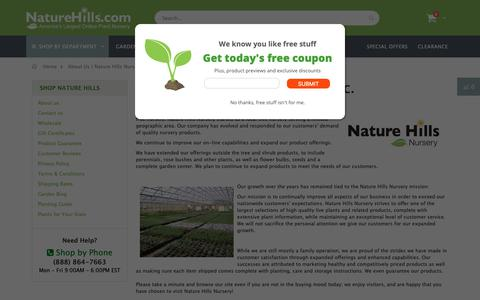 Screenshot of About Page naturehills.com - About Us | Nature Hills Nursery - captured Oct. 22, 2018