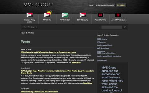 Screenshot of Press Page mvegroup.com - News - MVE Group - captured Sept. 30, 2014
