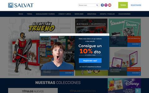 Screenshot of Home Page salvat.com - Editorial Salvat - captured May 5, 2017