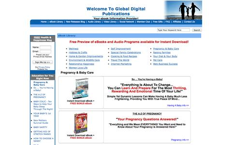 Screenshot of Products Page globaldigitalpublications.com - Ebooks, audio books ,Downloadable Software Library | Global Digital Publications - captured Oct. 6, 2014