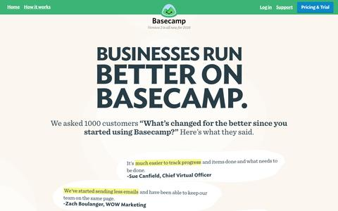 Basecamp 3: Manage projects, groups, and client work.