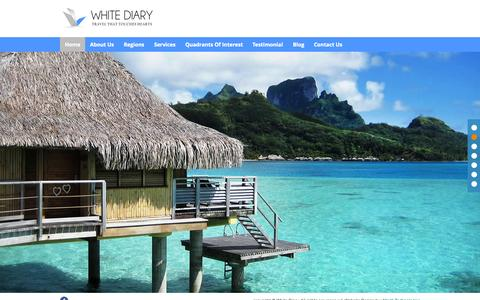 Screenshot of Home Page travelconsultant.co.in - White Diary | Travel Consultant | Travel Consultant in Vadodara - captured Sept. 3, 2015