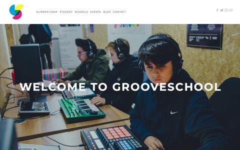 Screenshot of Home Page grooveschool.org - Grooveschool - captured July 6, 2018