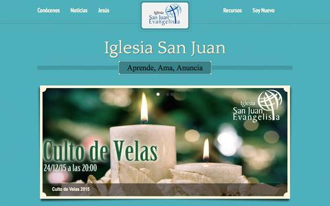 Screenshot of Home Page iglesiasanjuan.cl - Iglesia San Juan – Aprende, Ama, Anuncia - captured Jan. 8, 2016