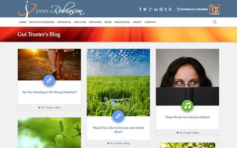 Screenshot of Blog lynnrobinson.com - Gut Truster's Blog | Lynn A. Robinson - captured Sept. 19, 2014