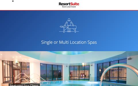 Spa Management Software | ResortSuite
