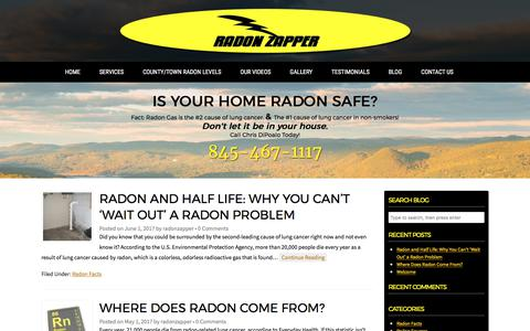 Screenshot of Blog radonzapper.com - Blog   Radon Zapper - captured June 18, 2017