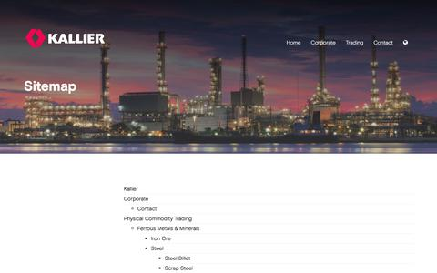 Screenshot of Site Map Page kallier.com - Sitemap - Kallier - captured June 9, 2017