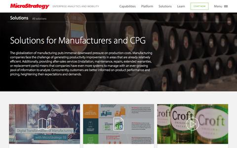 Analytics Solutions for Manufacturing and CPG | MicroStrategy