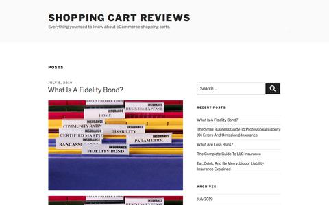 Screenshot of Home Page shopping-cart-reviews.com - Shopping Cart Reviews - captured July 7, 2019