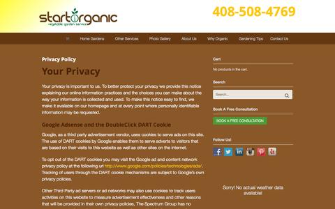 Screenshot of Privacy Page startorganic.org - Privacy Policy - StartOrganic - captured Oct. 1, 2014