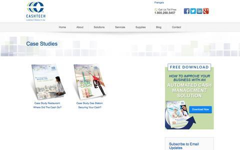 Screenshot of Case Studies Page cashtechcurrency.com - Case Studies - captured Nov. 1, 2014