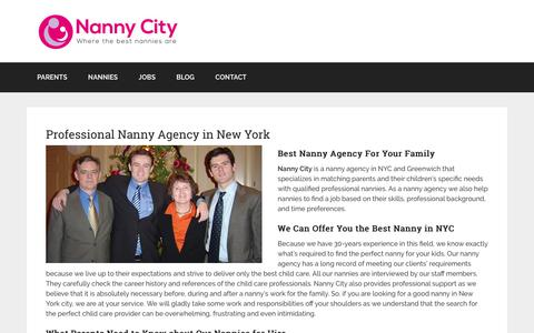 Screenshot of Home Page nannycity.com - Nanny Agency New York - Brooklyn - Westchester and Fairfield Counties - captured Nov. 15, 2017