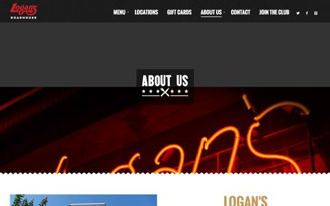 Screenshot of About Page logansroadhouse.com - About Us - Logans Roadhouse - captured Dec. 3, 2015