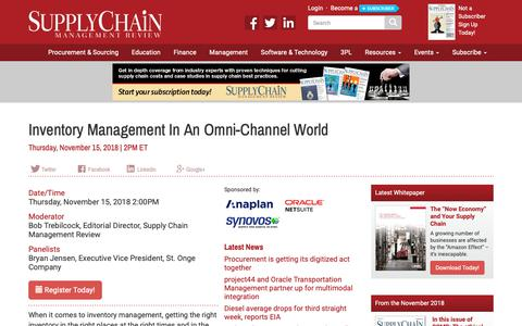 Screenshot of Signup Page scmr.com - Inventory Management In An Omni-Channel World - Supply Chain Management Review - captured Nov. 7, 2018