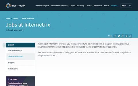 Screenshot of Jobs Page internetrix.com.au - Jobs at Internetrix | Internetrix - captured Jan. 9, 2016