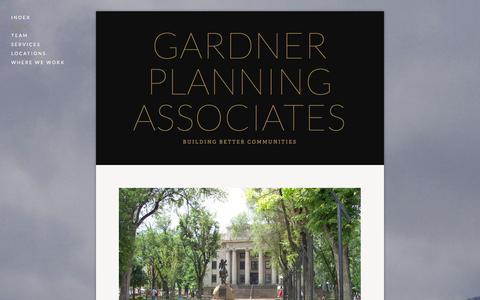 Screenshot of Menu Page gardnerplanningservices.com - main — Gardner Planning Associates - captured Oct. 2, 2014