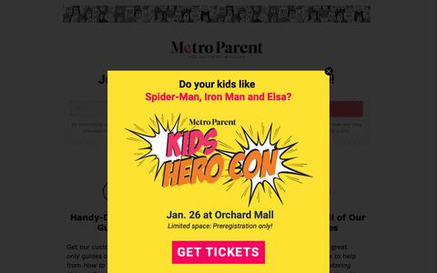 Screenshot of Signup Page metroparent.com - Join the Metro Parent Community for Free - Detroit and Ann Arbor Metro Parent - captured Jan. 4, 2019