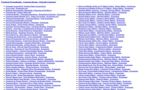 Screenshot of Site Map Page ecamisetas.com - Sitemap Camisetas Personalizadas Ecamisetas.com - captured Jan. 25, 2016
