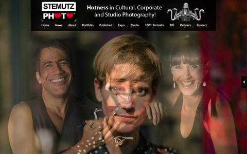 Screenshot of Home Page stemutz.ch - STEMUTZ PHOTO – Hotness in Cultural, Corporate & Studio Photography! - captured Oct. 3, 2014