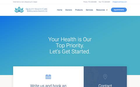 Screenshot of Contact Page Maps & Directions Page qhcwellness.com - Book an Appointment - Quality Health Care - captured July 10, 2018