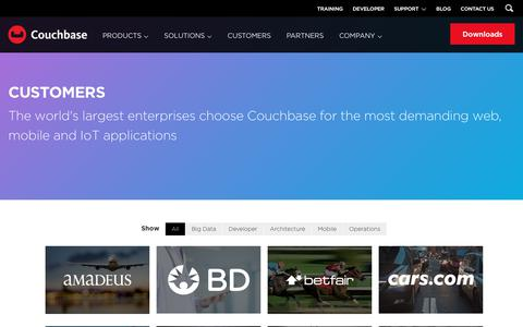 Screenshot of Case Studies Page couchbase.com - Customers | Couchbase - captured June 23, 2017