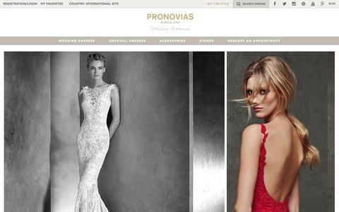 Screenshot of Home Page pronovias.com - Pronovias | Wedding dresses and Cocktail dresses - captured July 25, 2015
