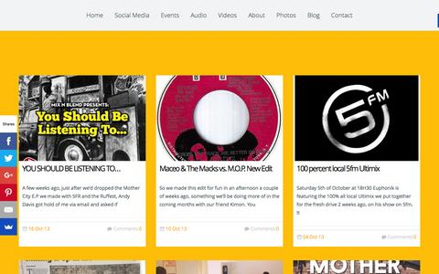 Screenshot of Blog mixnblend.com - Mix n Blend Newsmix n blend   we just basically love music… - captured Feb. 27, 2016