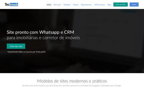 Screenshot of Home Page tecimob.com.br - Tecimob - Site para imobiliária e corretor de imóveis - Início - captured Dec. 10, 2018