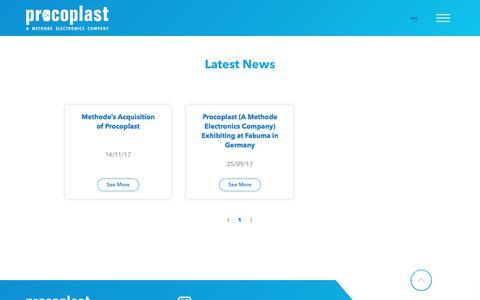 Screenshot of Press Page procoplast.be - Latest News - captured July 23, 2018