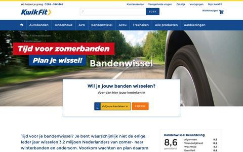 Banden wisselen? Plan online je afspraak in op KwikFit.nl!