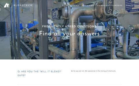 Screenshot of FAQ Page blendtech.com - FAQ — Blendtech - captured Nov. 21, 2016