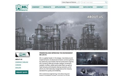 Screenshot of About Page dcl-inc.com - DCL International Inc. - About Us - captured Oct. 5, 2014