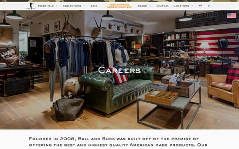 Screenshot of Jobs Page ballandbuck.com - Careers | Ball and Buck - captured Dec. 29, 2015
