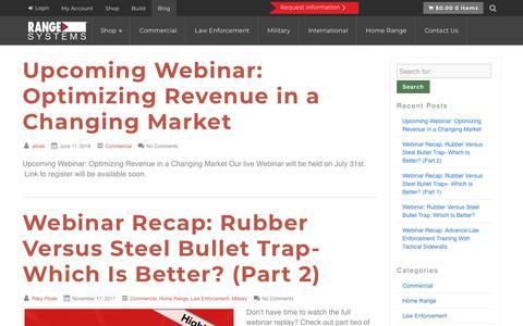 Screenshot of Blog range-systems.com - Blog - Range Systems - captured Sept. 20, 2018