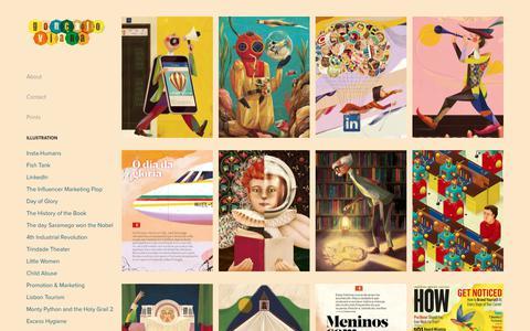 Screenshot of Home Page goncaloviana.com - Goncalo Viana Illustration - captured Sept. 29, 2018